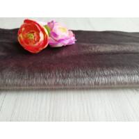 Мех миниплюш ( под натуральную нерпу )  цвет табак 3-5мм