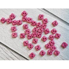 """МиниПуговицы матовые 6 мм  """"Цветочки"""", цвет: розовый, 5 шт."""