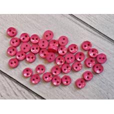 """МиниПуговицы глянцевые 6 мм  """"Круглые"""", цвет: розовый, 5 шт."""